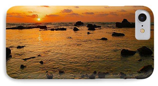 Orange Sunset IPhone Case by Meir Ezrachi