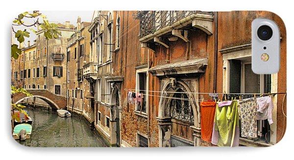 Orange Towel Venice Canal IPhone Case