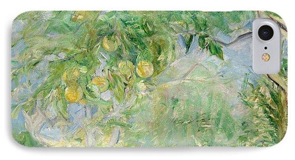 Orange Tree Branches Phone Case by Berthe Morisot
