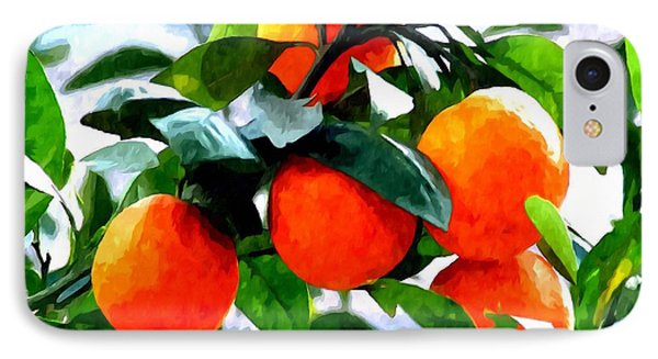 Orange Tree In Springtime  Phone Case by Lanjee Chee