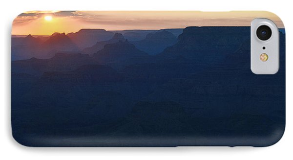 Orange Twilight Sunset Over Silhouetted Spires In Grand Canyon National Park Diffuse Glow IPhone Case by Shawn O'Brien
