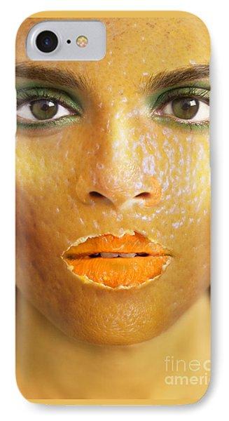 Orange Woman IPhone Case