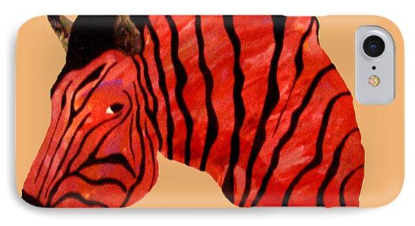 Orange Zebra Phone Case by Andrew Petras