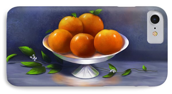 IPhone Case featuring the painting Oranges A La Carte by Sena Wilson