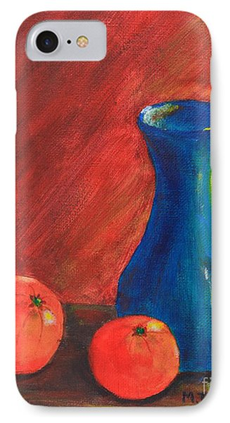 Oranges And A Vase IPhone Case by Melvin Turner