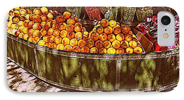Oranges And Flowers IPhone Case by Miriam Danar