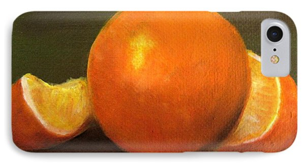 IPhone Case featuring the painting Oranges by Carol Sweetwood