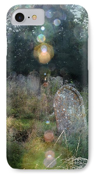 Orbs In Overgrown Cemetery IPhone Case