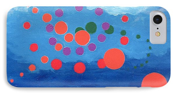 IPhone Case featuring the painting Orbs Under Water by Rod Ismay