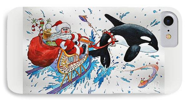 Orca Santa Phone Case by James Williamson
