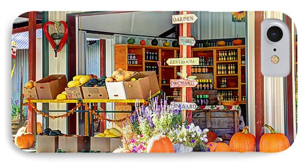 Orchard Valley Market IPhone Case by Bob Hislop