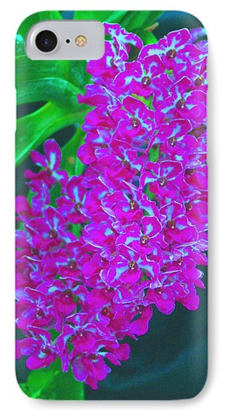 Orchid 14 Manipulated IPhone Case by Sheila Byers
