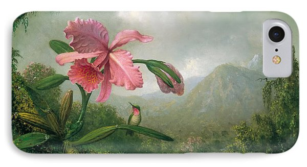Orchid And Hummingbird IPhone Case by Mountain Dreams