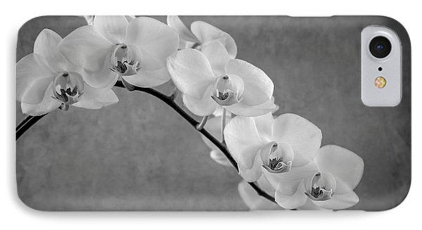 Orchid Bw Phone Case by Hannes Cmarits