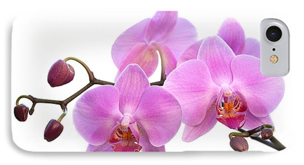 Orchid Flowers - Pink Phone Case by Natalie Kinnear