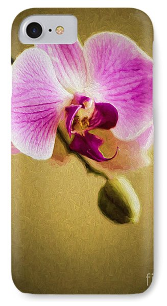 Orchid In Digital Oil IPhone Case