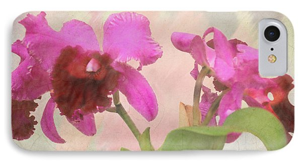 Orchid In Hot Pink IPhone Case by Rosalie Scanlon