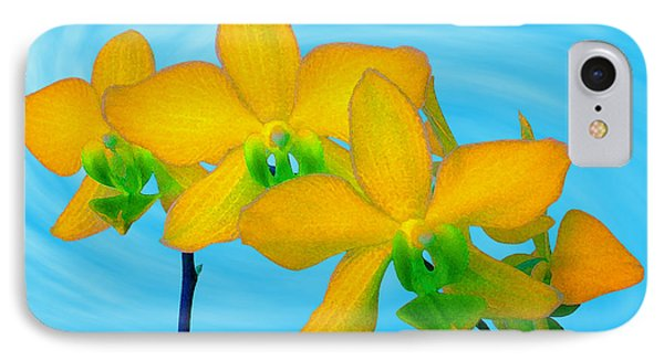 Orchid In Yellow Phone Case by Ben and Raisa Gertsberg