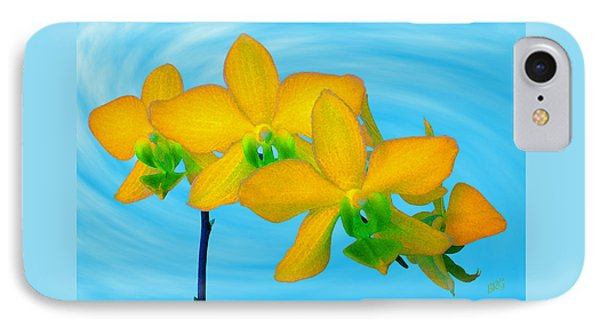 Orchid In Yellow IPhone Case by Ben and Raisa Gertsberg