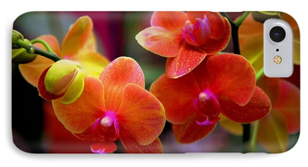 Orchid Melody Phone Case by Karen Wiles
