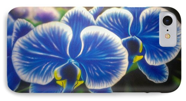Orchid-strated Blues IPhone Case by Darren Robinson