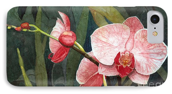 IPhone Case featuring the painting Orchid Trio 2 by Barbara Jewell