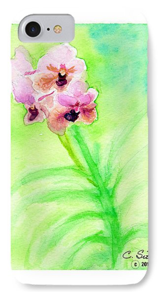 IPhone Case featuring the painting Orchids by C Sitton