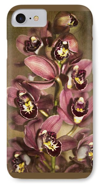 IPhone Case featuring the photograph Orchids - Cymbidium  by Kerri Ligatich
