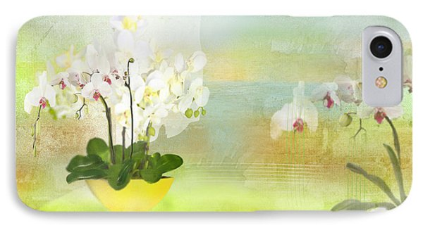 Orchids - Limited Edition 1 Of 10 IPhone Case by Gabriela Delgado