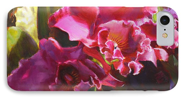 Orchids In Magenta IPhone Case