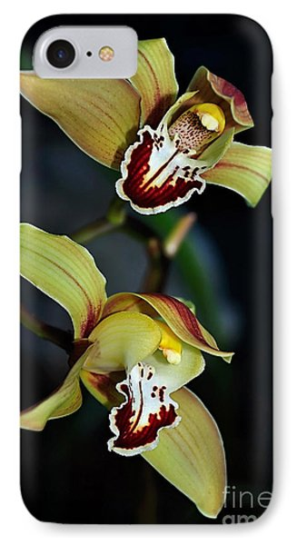 Orchids In The Evening IPhone 7 Case by Kaye Menner