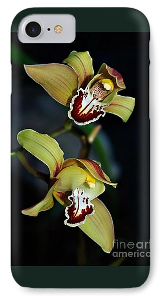 Orchids In The Evening IPhone Case by Kaye Menner