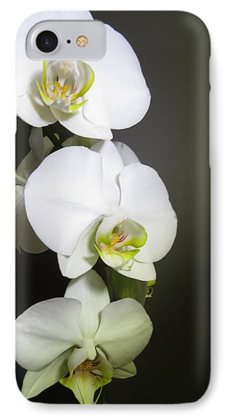Orchids On Gray IPhone Case
