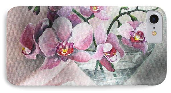 Orchids IPhone Case by Vesna Martinjak