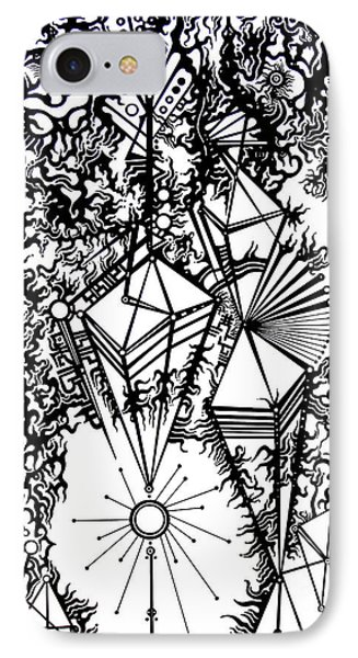 Order And Chaos IPhone Case by Devin  Cogger