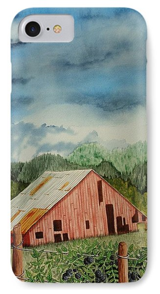 IPhone Case featuring the painting Oregon Barn by Katherine Young-Beck