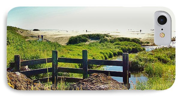 Oregon Beach 1 IPhone Case by Larry Campbell