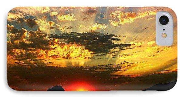 Oregon Crepuscular Sunset IPhone Case