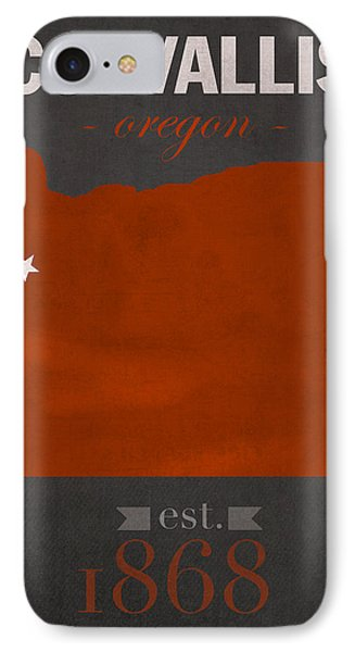 Oregon State University Beavers Corvallis College Town State Map Poster Series No 087 IPhone Case by Design Turnpike