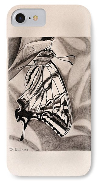 Oregon Swallowtail Butterfly  IPhone Case by Teri Schuster