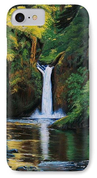 Oregon's Punchbowl Waterfalls IPhone Case by Sharon Duguay