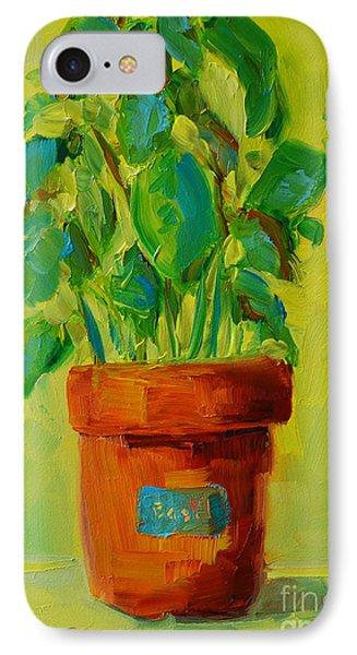 Organic Basil Plant Still Life Phone Case by Patricia Awapara