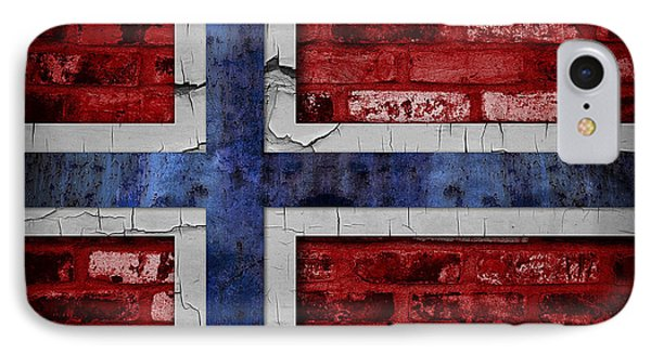 Organic Norway Flag IPhone Case by Daniel Hagerman