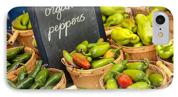 Organic Peppers At Farmers Market Phone Case by Teri Virbickis