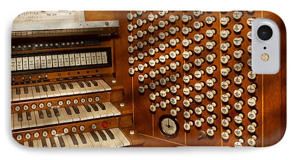 Organist - Ready At The Controls IPhone Case by Mike Savad
