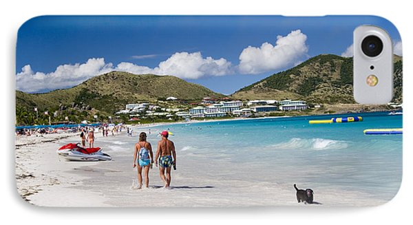 Orient Beach In St Martin Fwi Phone Case by David Smith