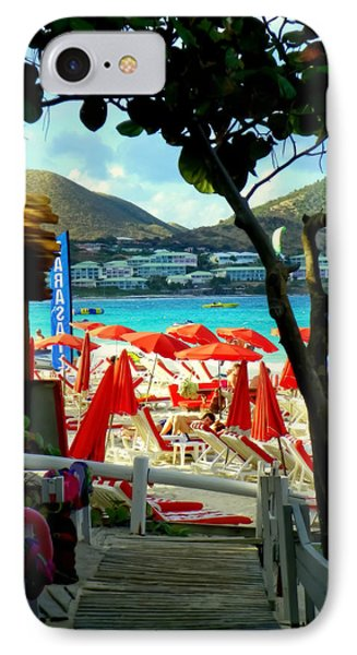 Orient Beach Peek Phone Case by Karen Wiles