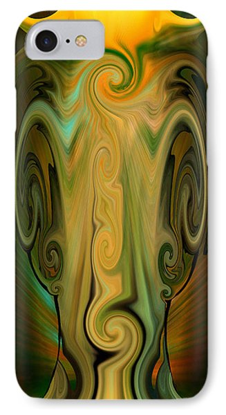 IPhone Case featuring the digital art Orient - The Jar by rd Erickson