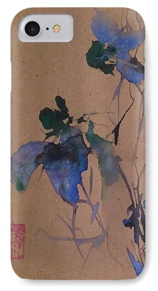 Oriental Blue Louisiana Iris Flower Study  IPhone Case by Robin Miller-Bookhout
