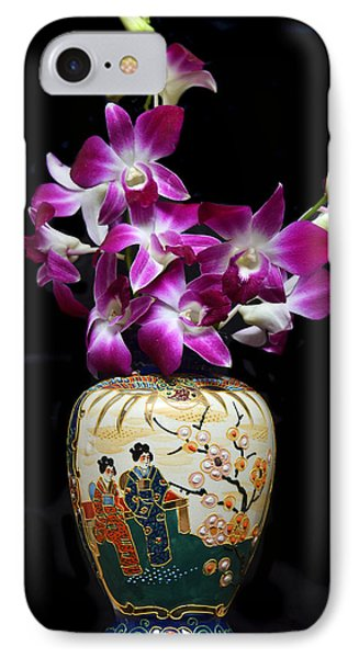 Oriental Orchids. IPhone Case by Terence Davis